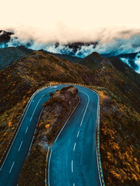 portuguese landscape road